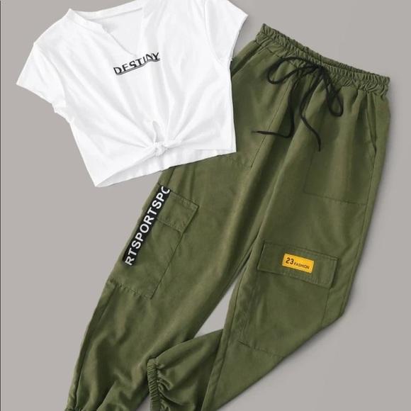 t-shirt and cargo pants set